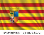 flag of aragon waving in the... | Shutterstock .eps vector #1648785172