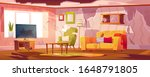old dirty living room with... | Shutterstock .eps vector #1648791805