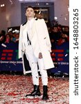 Small photo of SANREMO, ITALY - FEBRUARY 03: Singer Junior Cally attends the opening red carpet of the 70th Sanremo Music Festival at Teatro Ariston on February 03, 2020 in Sanremo, Italy.