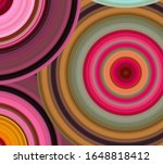 abstract moving circular lines  ... | Shutterstock . vector #1648818412