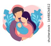 mother and father holding their ...   Shutterstock .eps vector #1648826812