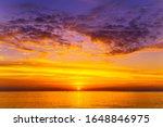 Sunset On The Beach Hawaiian...