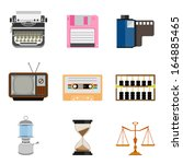 vintage equipment icons | Shutterstock .eps vector #164885465