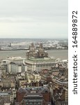 birdseye view of liverpool  uk
