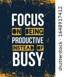 vector focus quote poster ... | Shutterstock .eps vector #1648917412