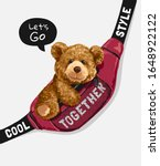 Bear Toy In Sling Bag...