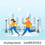 vacation winter activity young. ... | Shutterstock .eps vector #1648929352