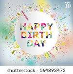 vector illustration of a happy... | Shutterstock .eps vector #164893472