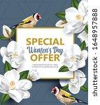 happy women's day with... | Shutterstock .eps vector #1648957888