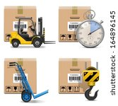 vector shipment icons set 12 | Shutterstock .eps vector #164896145