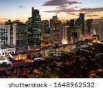 Sunset Above Makati Business...
