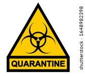 sign symbol quarantine zone ... | Shutterstock .eps vector #1648982398