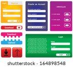 vector website forms | Shutterstock .eps vector #164898548