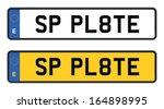 spanish number plate | Shutterstock .eps vector #164898995