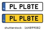 polish number plate - stock vector