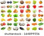 collection of various fruits... | Shutterstock . vector #164899556