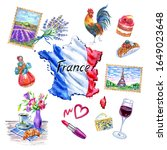 France Map With Flag And Its...