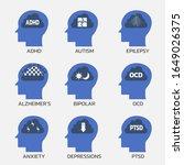 set of mental health concept... | Shutterstock .eps vector #1649026375