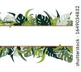 summer spring green leaves...   Shutterstock . vector #1649034832