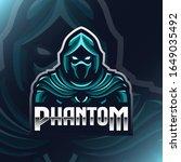 Phantom Logo Mascot Vector...