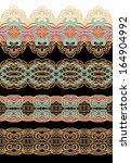 set of decorative ribbons | Shutterstock .eps vector #164904992