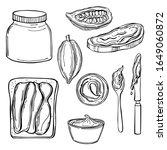 chocolate paste set. vector...   Shutterstock .eps vector #1649060872