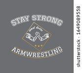 arm wrestling modern... | Shutterstock .eps vector #1649089558