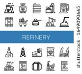 set of refinery icons. such as... | Shutterstock .eps vector #1649090665