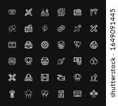 editable 36 glossy icons for... | Shutterstock .eps vector #1649091445