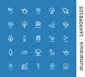 editable 25 botany icons for... | Shutterstock .eps vector #1649098105