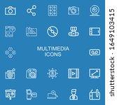 editable 22 multimedia icons... | Shutterstock .eps vector #1649103415
