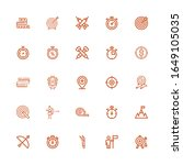 editable 25 accuracy icons for... | Shutterstock .eps vector #1649105035