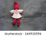 christmas peg dolly ornament  | Shutterstock . vector #164910596