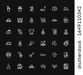 Editable 36 Hat Icons For Web...