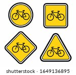 bicycle icon set. bike road... | Shutterstock .eps vector #1649136895