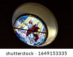 Jesus Christ On Church Window...