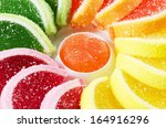 colorful jelly fruit candies . | Shutterstock . vector #164916296