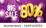 Big Sale Background With Gold...