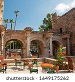 Street Cafe Near Hadrian's Gate ...