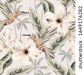 hummingbirds  hibiscus flowers  ... | Shutterstock .eps vector #1649176282