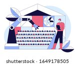 agriculture vertical farming... | Shutterstock .eps vector #1649178505