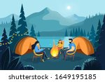 camping night in the mountains...   Shutterstock .eps vector #1649195185