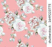bright seamless pattern with...   Shutterstock . vector #1649223775