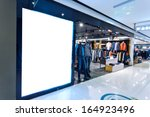 boutique display window with... | Shutterstock . vector #164923496