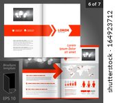 vector white brochure template... | Shutterstock .eps vector #164923712