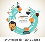design  creative  idea and... | Shutterstock .eps vector #164925065