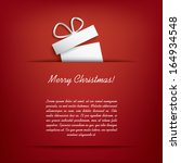 christmas card with christmas... | Shutterstock .eps vector #164934548