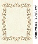 abstract frame. | Shutterstock .eps vector #16493599
