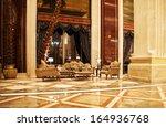 Stock photo luxury lobby 164936768