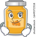 cool apricot mascot character... | Shutterstock .eps vector #1649372518